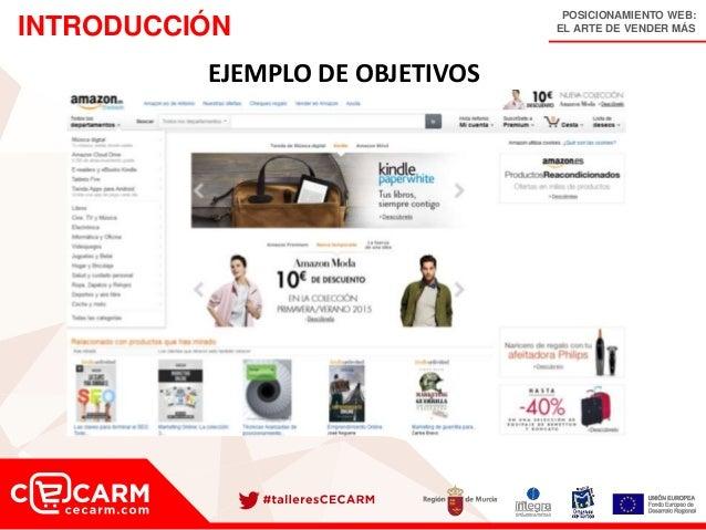POSICIONAMIENTO WEB: EL ARTE DE VENDER MÁSINTRODUCCIÓN EJEMPLO DE OBJETIVOS