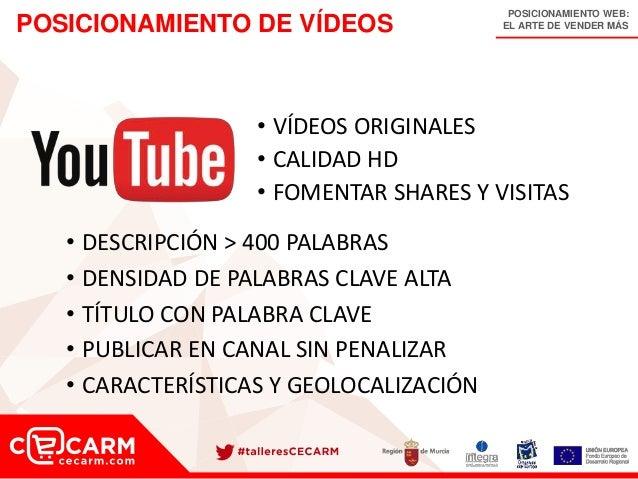 POSICIONAMIENTO WEB: EL ARTE DE VENDER MÁSPOSICIONAMIENTO DE VÍDEOS • VÍDEOS ORIGINALES • CALIDAD HD • FOMENTAR SHARES Y V...