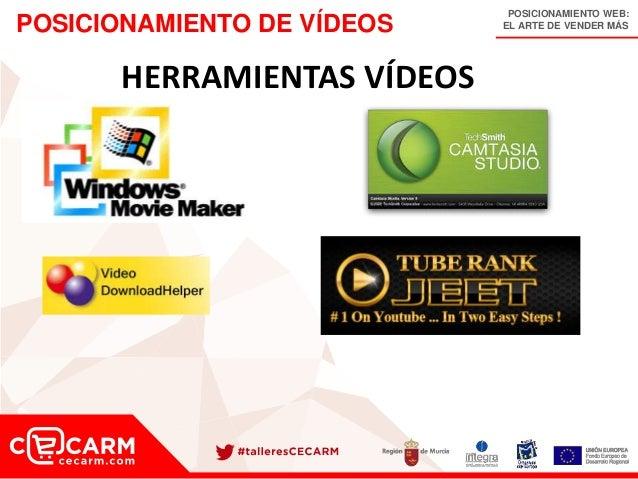 POSICIONAMIENTO WEB: EL ARTE DE VENDER MÁSPOSICIONAMIENTO DE VÍDEOS HERRAMIENTAS VÍDEOS