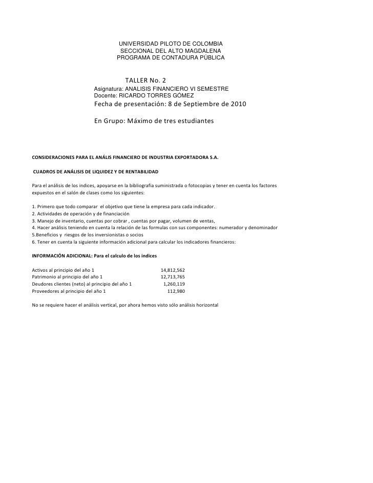 UNIVERSIDAD PILOTO DE COLOMBIA                                          SECCIONAL DEL ALTO MAGDALENA                      ...