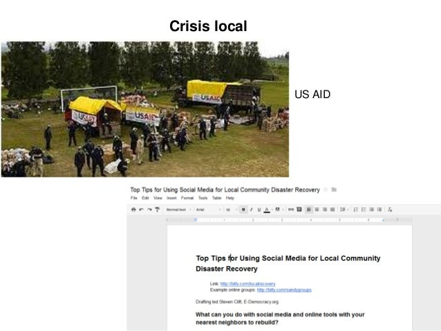 Crisis local               US AID                        15
