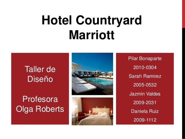 Hotel Countryard          Marriott                   Pilar Bonaparte                     2010-0304  Taller de             ...