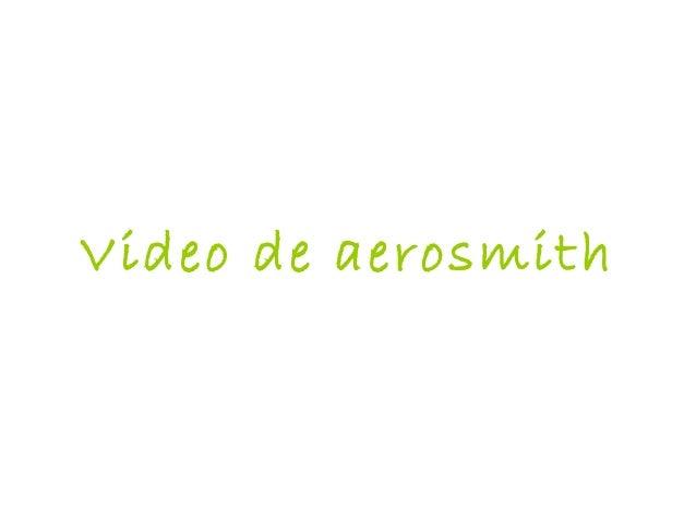 Video de aerosmith