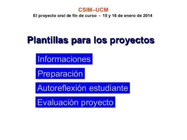 Proyecto oral de fin de curso for Proyecto de construccion de aulas de clases