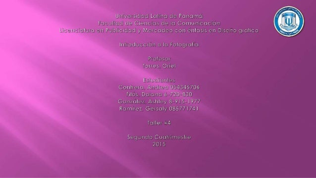 GERSALY RAMIREZ 085771741 ANDREA CONTRERAS 054345706 ASHLEY GONZALEZ 8-915-1977 DAIANA FILOS 6-720-830