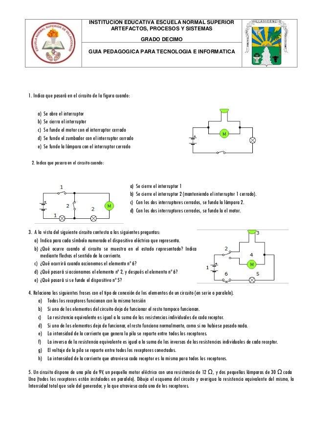 INSTITUCION EDUCATIVA ESCUELA NORMAL SUPERIOR ARTEFACTOS, PROCESOS Y SISTEMAS GRADO DECIMO GUIA PEDAGOGICA PARA TECNOLOGIA...