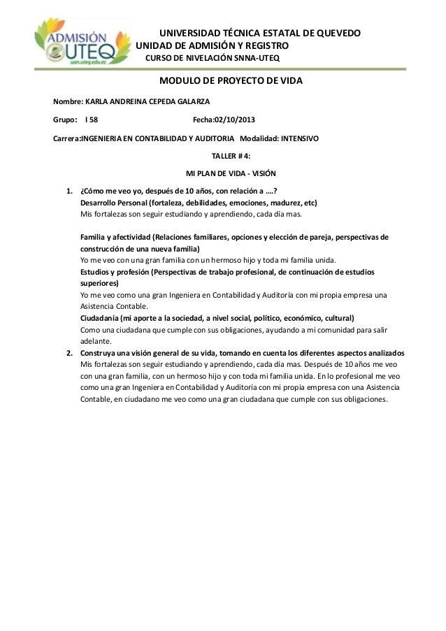 UNIVERSIDAD TÉCNICA ESTATAL DE QUEVEDO UNIDAD DE ADMISIÓN Y REGISTRO CURSO DE NIVELACIÓN SNNA-UTEQ MODULO DE PROYECTO DE V...