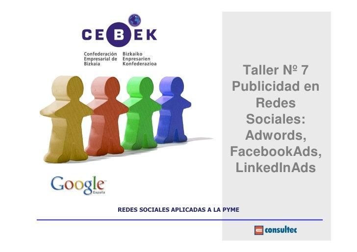 Taller Nº 7                               Publicidad en                                   Redes                           ...