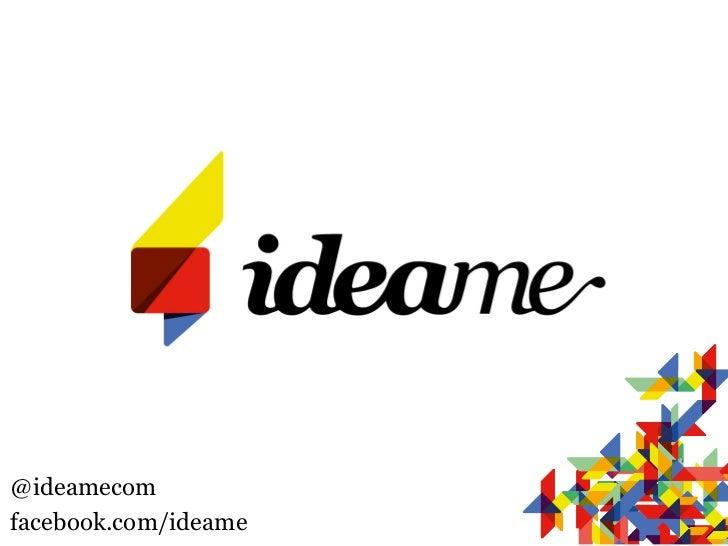@ideamecomfacebook.com/ideame