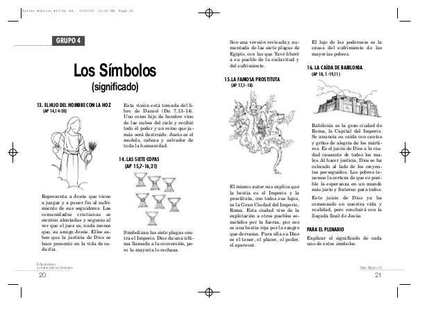 Taller Biblico 13 El Apocalipsis La Fuerza De Los Simbolos