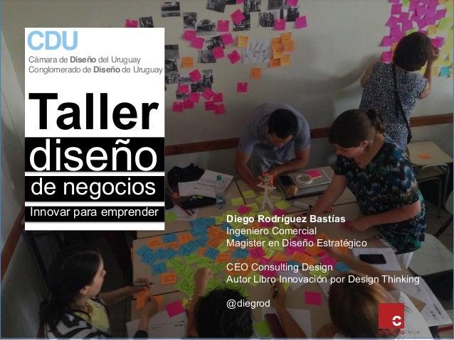 Taller de negocios diseño Innovar para emprender Diego Rodríguez Bastías Ingeniero Comercial Magister en Diseño Estratégic...