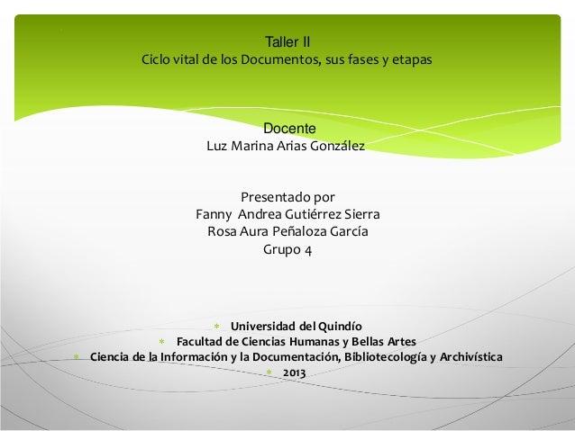 Taller ciclo vital del  documento Slide 2
