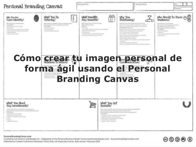 Imagen personal con Personal Branding Canvas Fernando Milla www.fernandomilla.es Cómo crear tu imagen personal de forma ág...