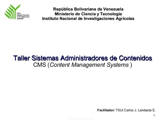 República Bolivariana de Venezuela                Ministerio de Ciencia y Tecnología         Instituto Nacional de Investi...