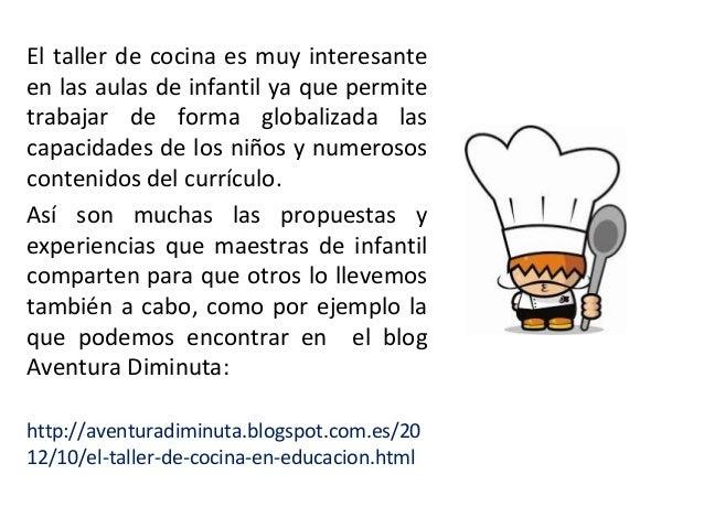 Taller cocina en educaci n infantil for Taller cocina ninos