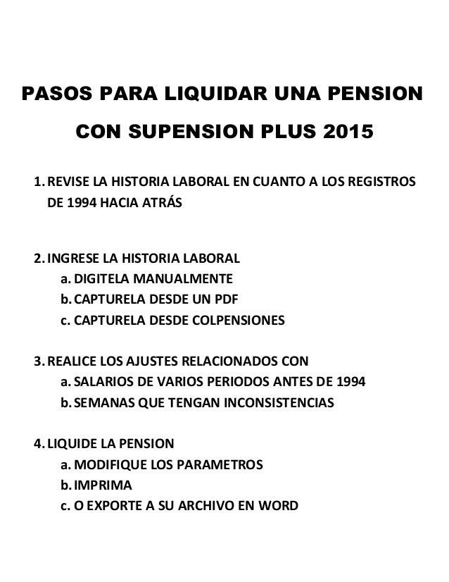 Taller como liquidar una pension Slide 2