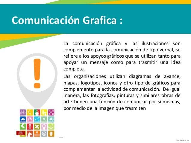 GC-F-004 V.01 Comunicación Grafica : La comunicación gráfica y las ilustraciones son complemento para la comunicación de t...