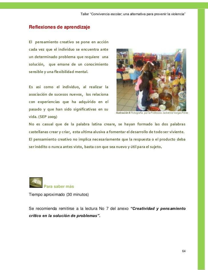 Taller convivencia escolar - El taller de pinero ...