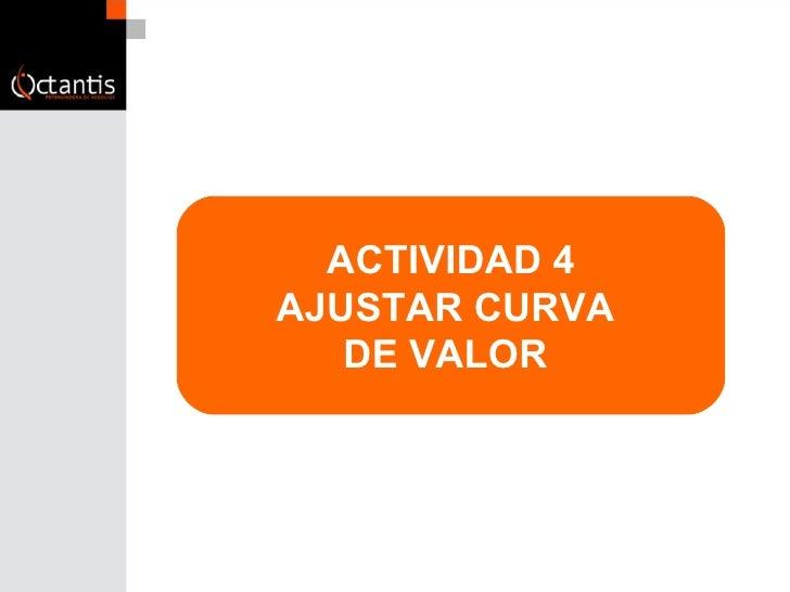 ACTIVIDAD 4 AJUSTAR CURVA  DE VALOR