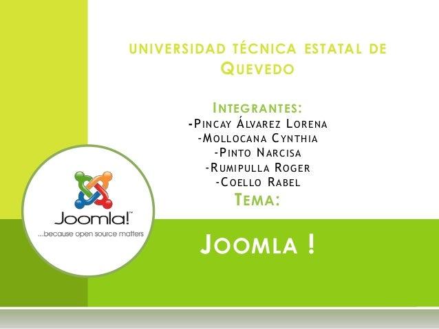 UNIVERSIDAD TÉCNICA ESTATAL DE QUEVEDO INTEGRANTES: -PINCAY ÁLVAREZ LORENA -MOLLOCANA CYNTHIA -PINTO NARCISA -RUMIPULLA RO...