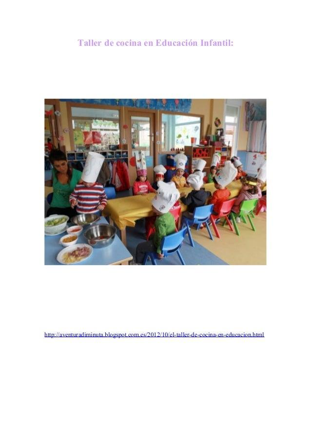 Taller de cocina en educaci n infantil for Taller de cocina teruel