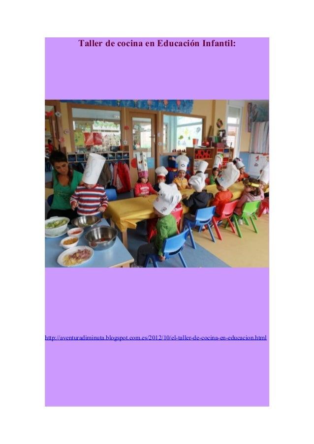 Taller de cocina en educaci n infantil - Talleres de cocina infantil ...