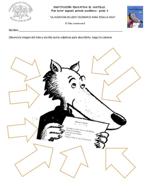 Taller de comprensión lectora: El lobo sentimental