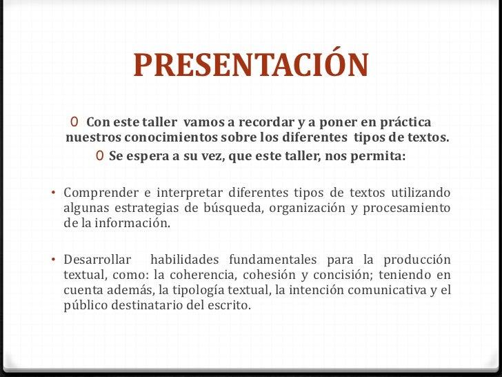 Taller de escritura n 2 - Recetas prixton ...