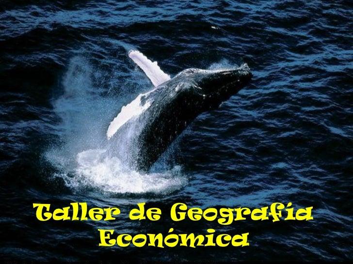Taller de Geografía     Económica