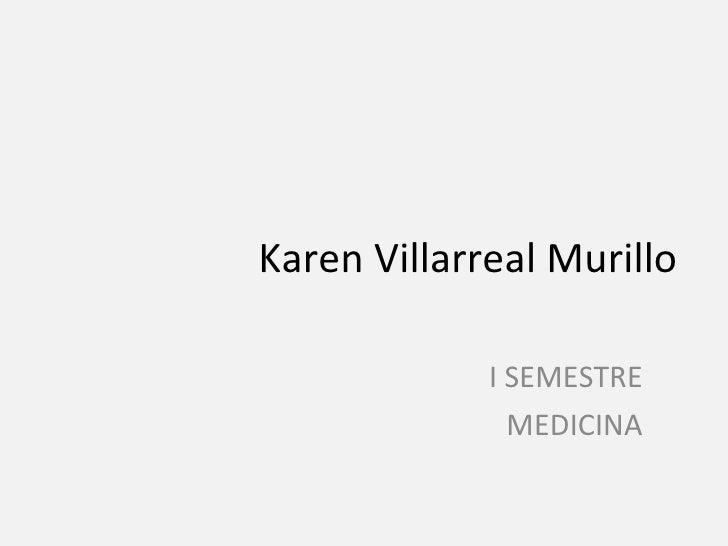 Karen Villarreal Murillo I SEMESTRE MEDICINA