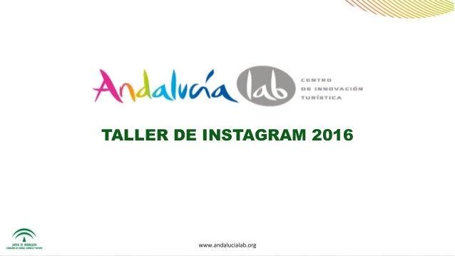 TALLER DE INSTAGRAM 2016
