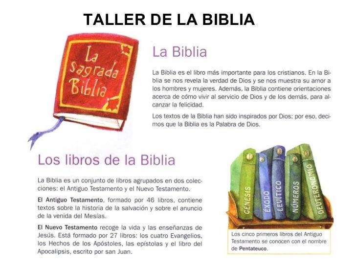 TALLER DE LA BIBLIA