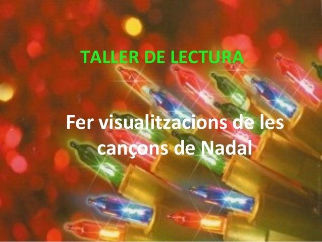 TALLER DE LECTURA Fer visualitzacions de les cançons de Nadal