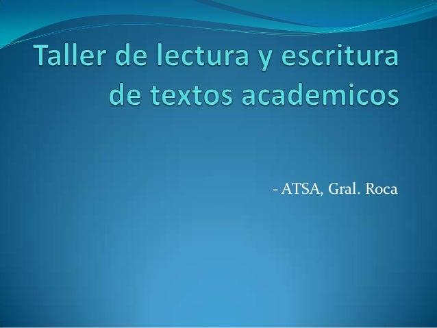 - ATSA, Gral. Roca