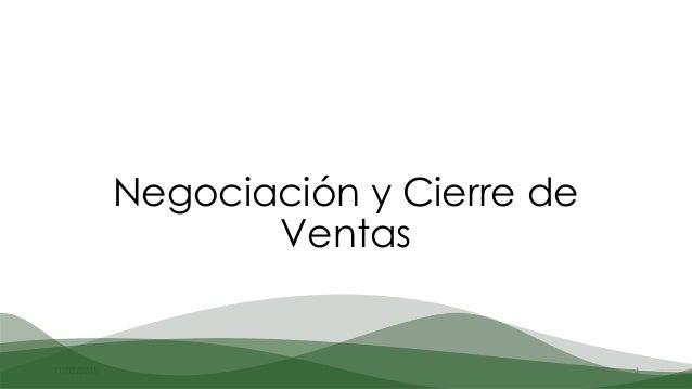11/03/2015 1 Negociación y Cierre de Ventas