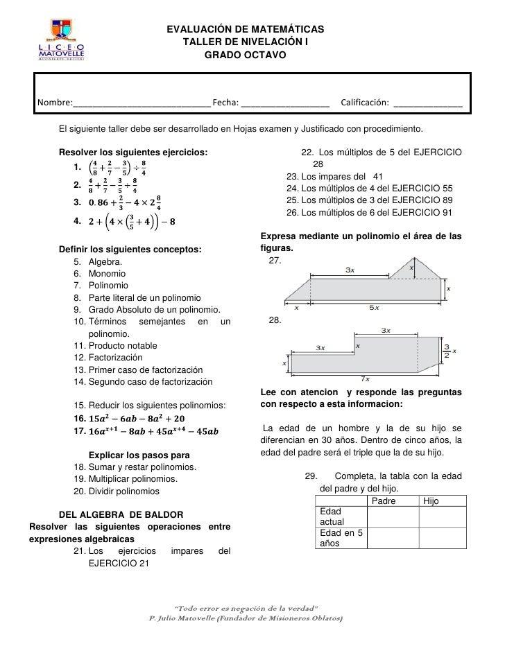 Magnífico Grado 8 Hojas De Trabajo De Matemáticas Motivo - hojas de ...
