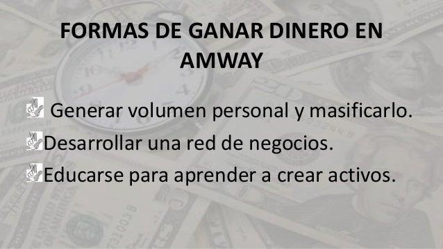 Taller de Números - FORMAS DE GANAR DINERO EN AMWAY Slide 3