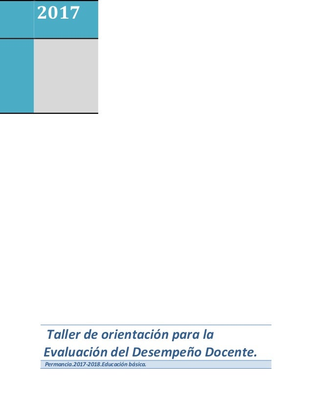 Cuadernillo de orientaci n para la evaluaci n del for Examen para plazas docentes 2017