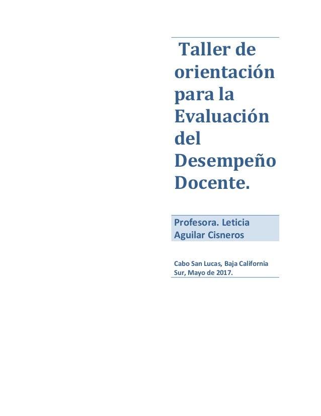 Cuadernillo de orientación para la Evaluación del desempeño docente 2017 Slide 2