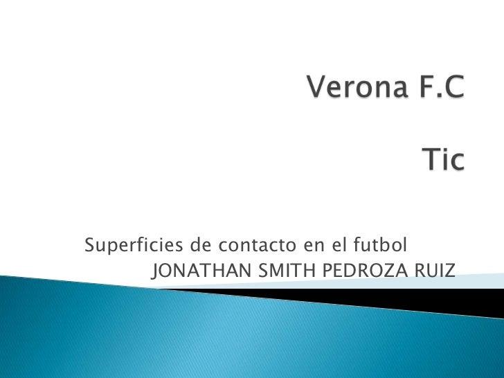 Superficies de contacto en el futbol       JONATHAN SMITH PEDROZA RUIZ