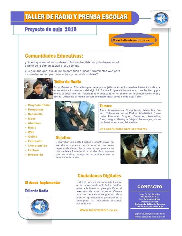 Taller De Radio Y Prensa Escolar