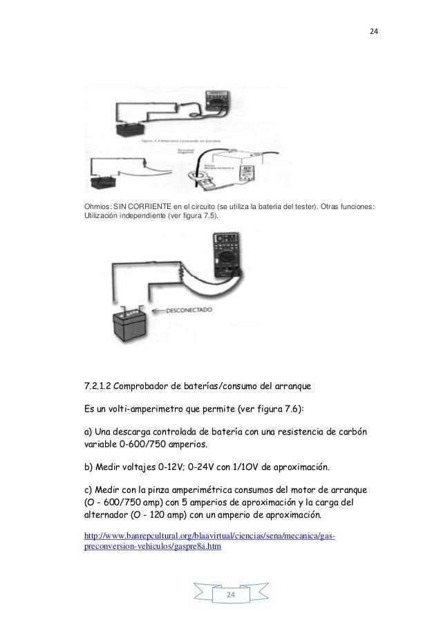 24 24 Ohmios: SIN CORRIENTE en el circuito (se utiliza la batería del tester). Otras funciones: Utilización independiente ...