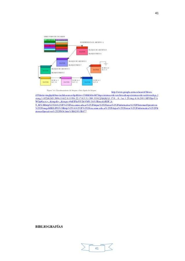 41 41 http://www.google.com.co/search?hl=es- 419&site=imghp&tbm=isch&source=hp&biw=1360&bih=667&q=sistemas+de+archivos&oq=...