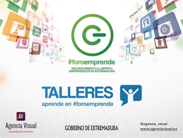 Mi marca ya está en las redes sociales... ¿y ahora?  @agencia_visual www.agenciavisual.es