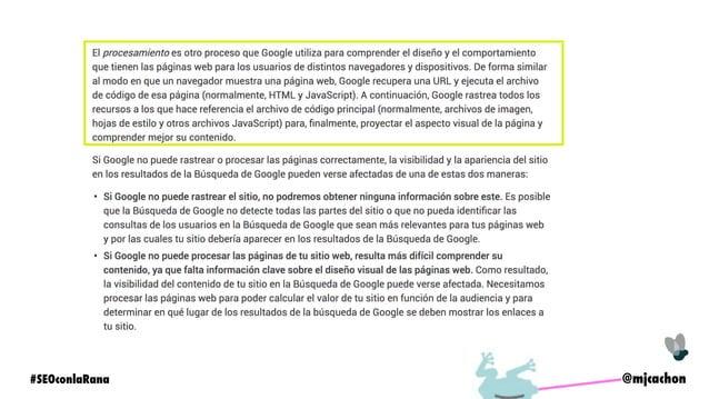 @mjcachon#SEOconlaRana Código HTML vía Código Fuente HTML procesado (renderizado)