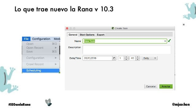 @mjcachon#SEOconlaRana Lo que trae nuevo la Rana v 10.3