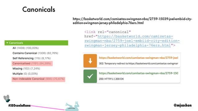 @mjcachon#SEOconlaRana Versión mobile Rastrear con user-agent mobile Si manejamos JS, analizar render y guardar copia