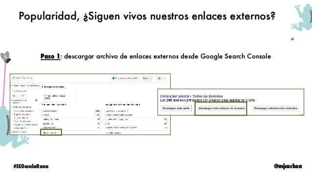 @mjcachon#SEOconlaRana @mjcachon Paso 2: Configurar Screaming Frog para que chequee si está o no el link Popularidad, ¿Sig...
