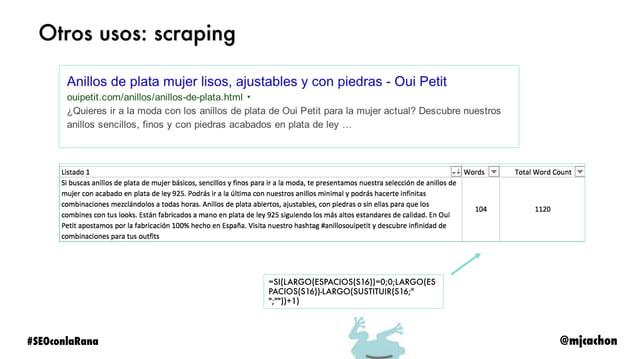 @mjcachon#SEOconlaRana Otros usos: etiquetado mobile