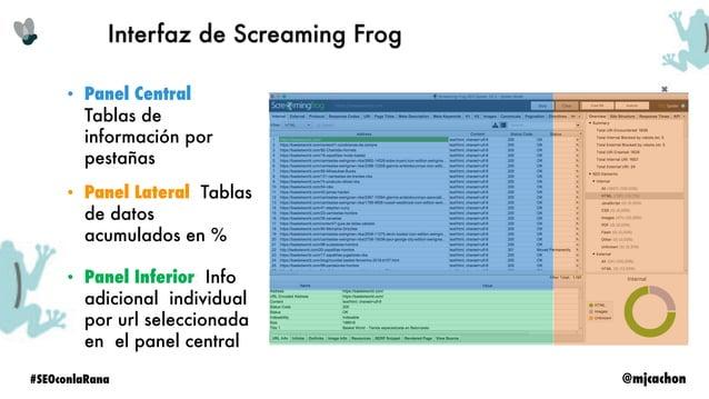 @mjcachon#SEOconlaRana Principales usos de la herramienta Análisis en bruto de un proyecto para detectar el status actual ...